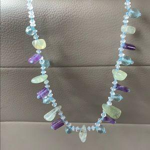 Beautiful Natural Flourite Necklace